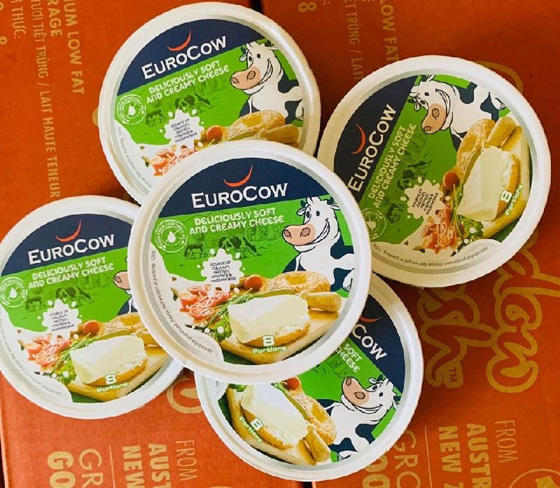 Phô mai EuroCow hộp 8 miếng