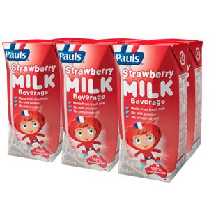 Sữa Pauls Mix Flavour hương vị dâu hộp 200ml
