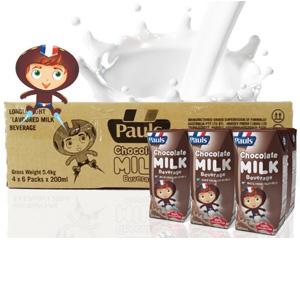 Sữa tươi Pauls 200ml Mix Flavour hương vị Chocolate