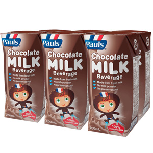 Sữa Pauls 200ml loại Mix Flavour hai mùi Dâu và Chocolate