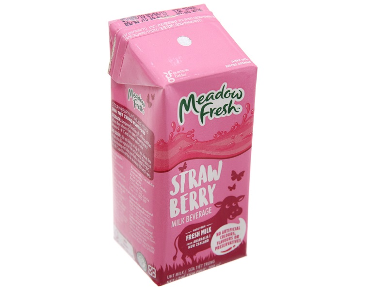Sữa Meadow Fresh Strawberry hương dâu 200ml