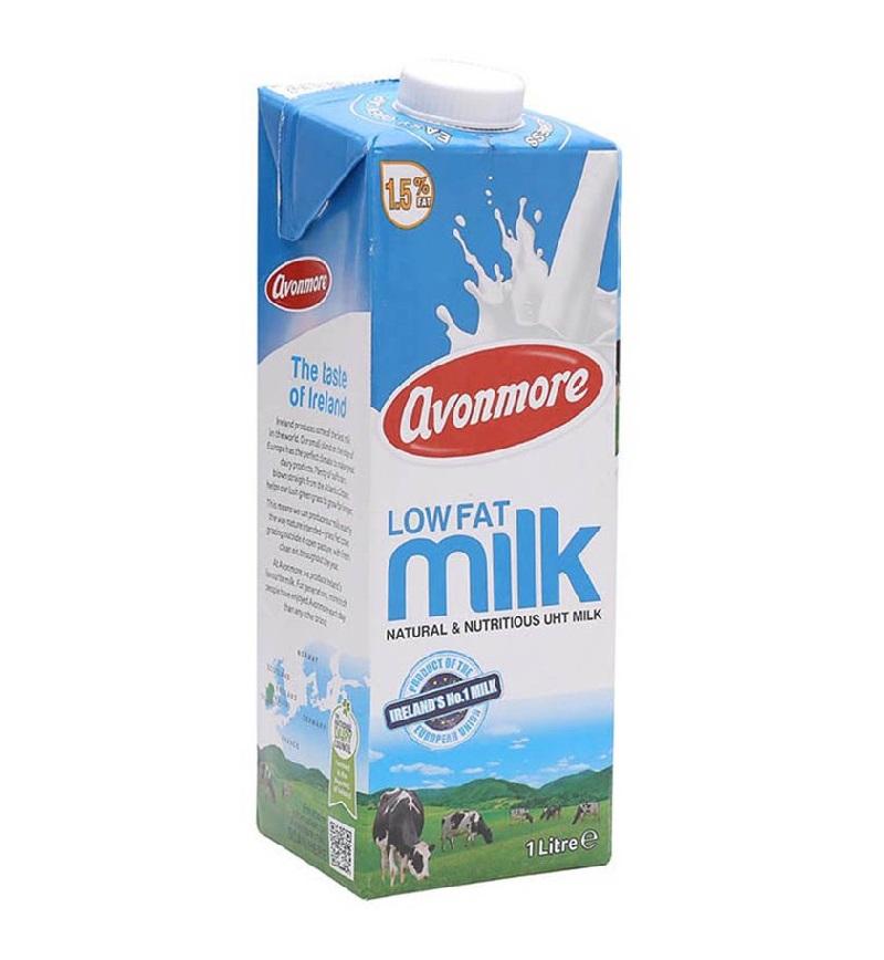 Mẩu hộp sữa tươi Avonmore Low Fat 1 lít