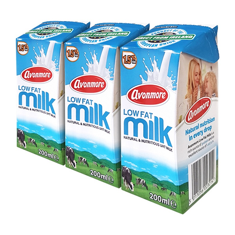 Sữa tươi ít béo Avonmore Low Fat hộp 200ml