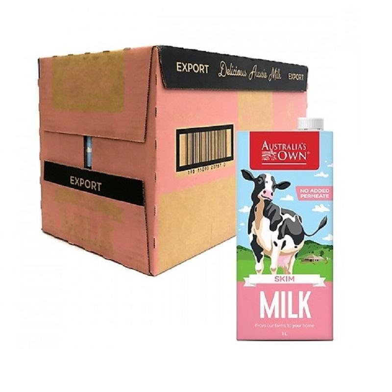 Sữa Australia Own Skim Milk không béo hộp 1 lít