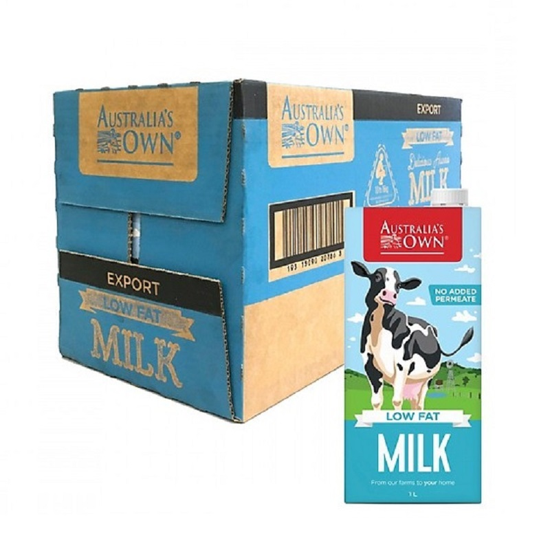 Sữa Australia Own Low Fat ít béo hộp 1 lít
