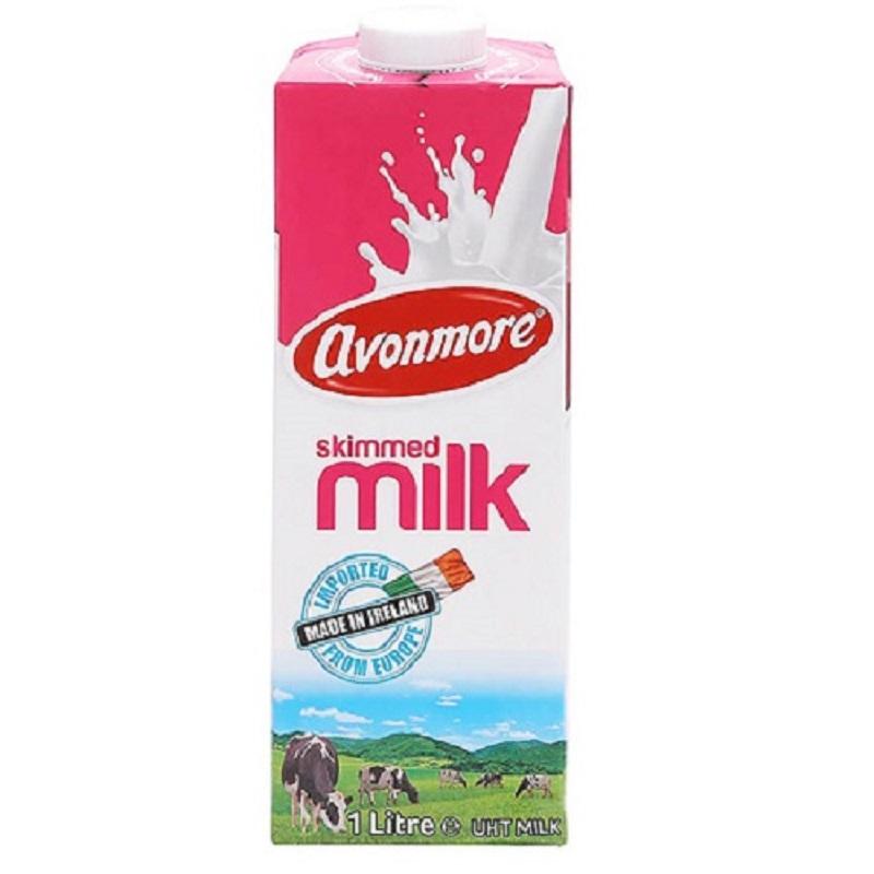 Sữa tươi không béo Avonmore Skimmed hộp 1 lít