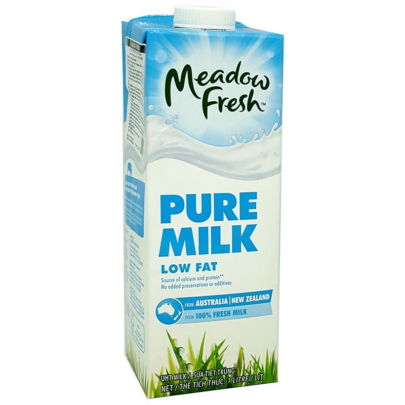 Sữa Meadow Fresh Pure Milk Low Fat 1 lít