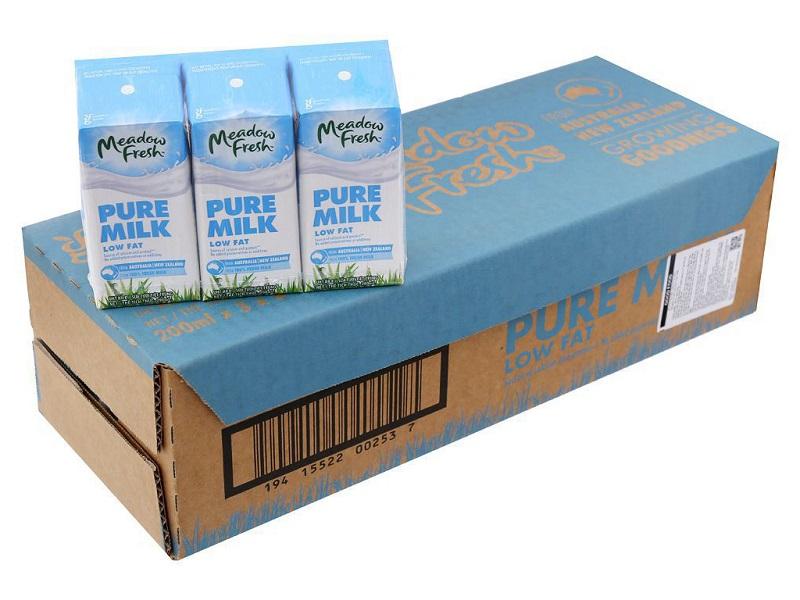 Sữa tươi Meadow Fresh Pure Milk Low Fat 200ml