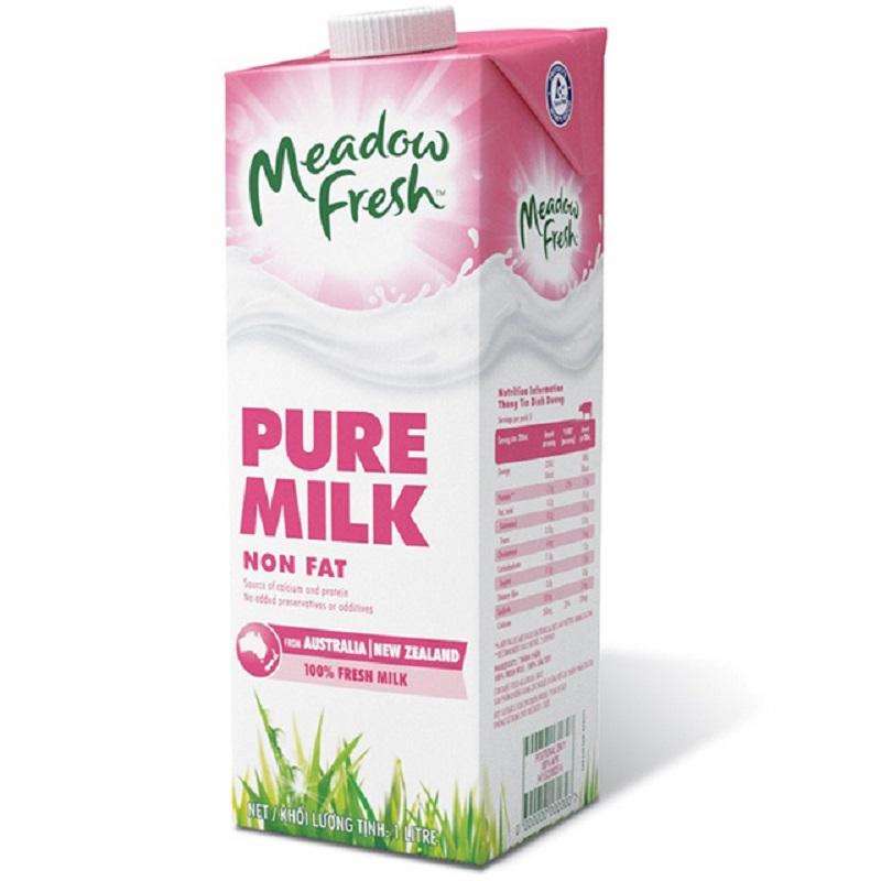 Sữa Meadow Fresh Non Fat tách Béo hộp 1 lít