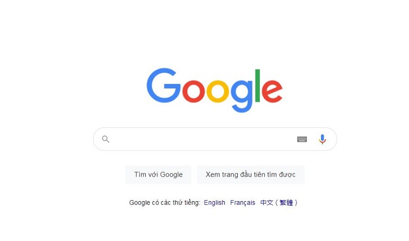 Search sản phẩm cần mua trên trang tìm kiếm cũa Google