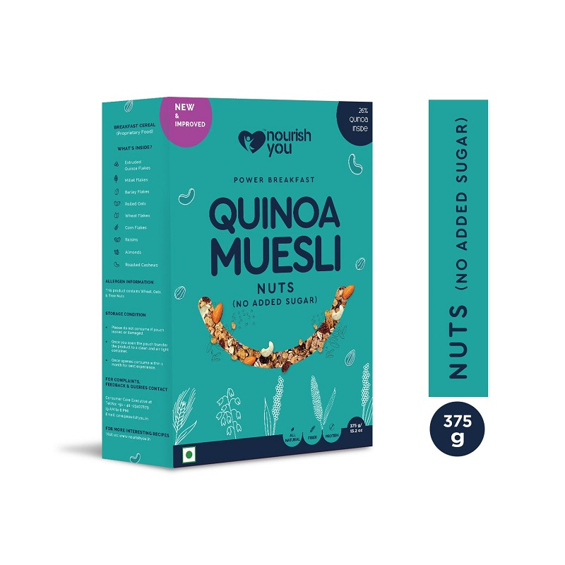 Ngũ cốc diêm mạch không đường Quinoa Muesli