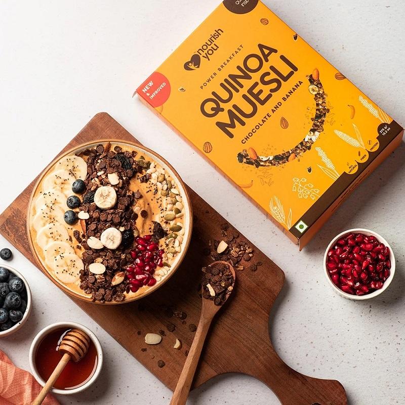 Ngũ cốc diêm mạch vị mật ong Quinoa Muesli