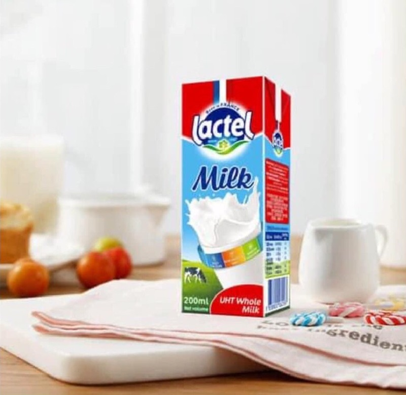 Sữa tươi Lactel tiệt trùng nguyên kem hộp 200ml
