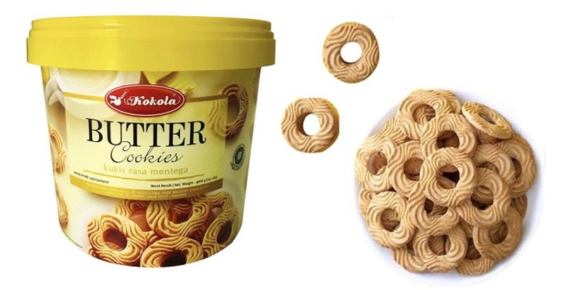 Bánh quy bơ dạng xô 400gr